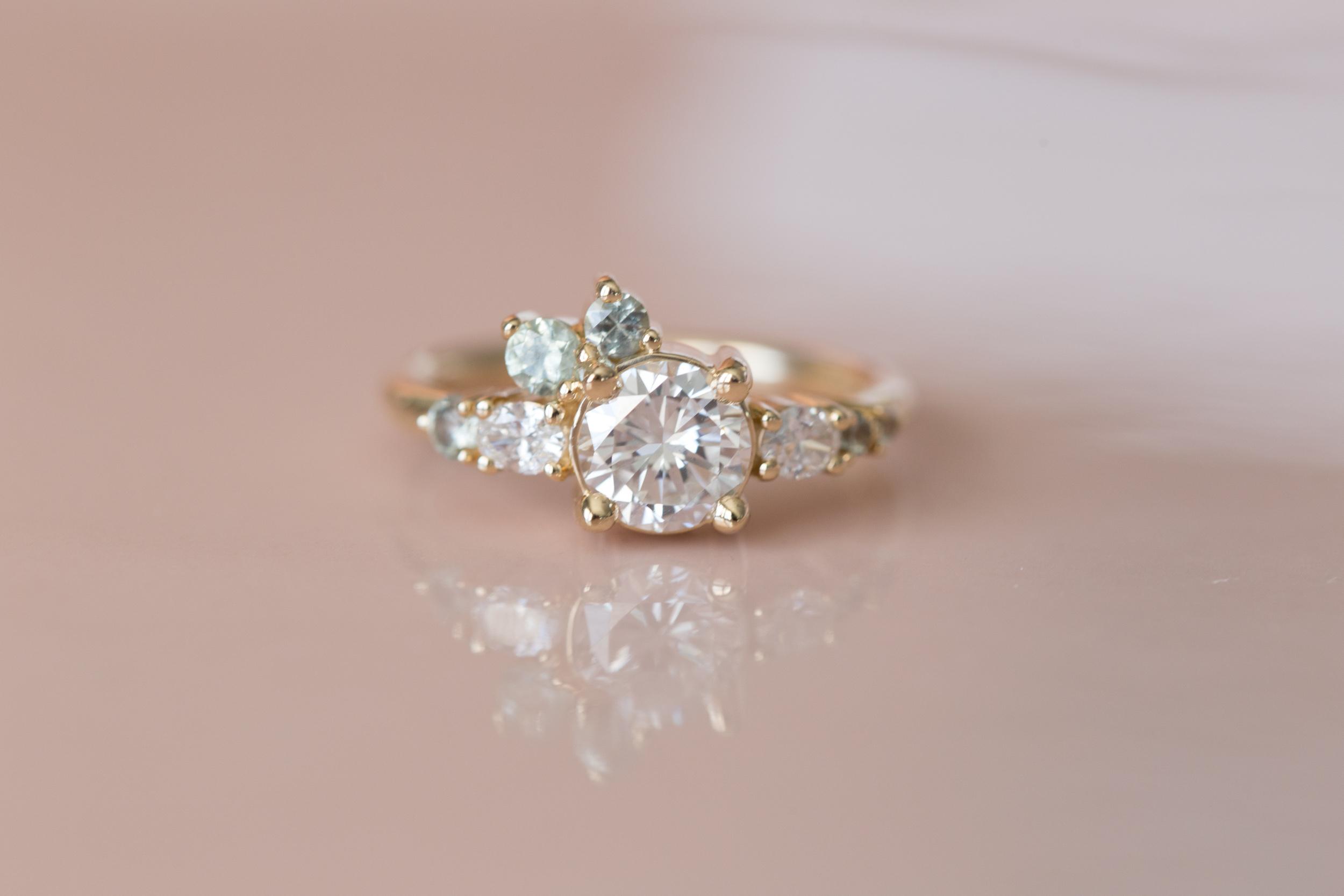 Ian + Nina Heirloom Diamond + Sapphire Cluster-1.jpg
