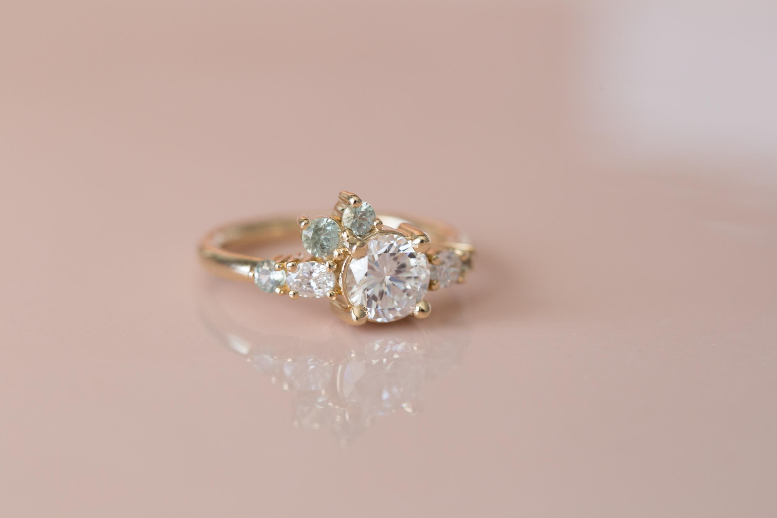 Ian + Nina Heirloom Diamond + Sapphire Cluster-3.jpg