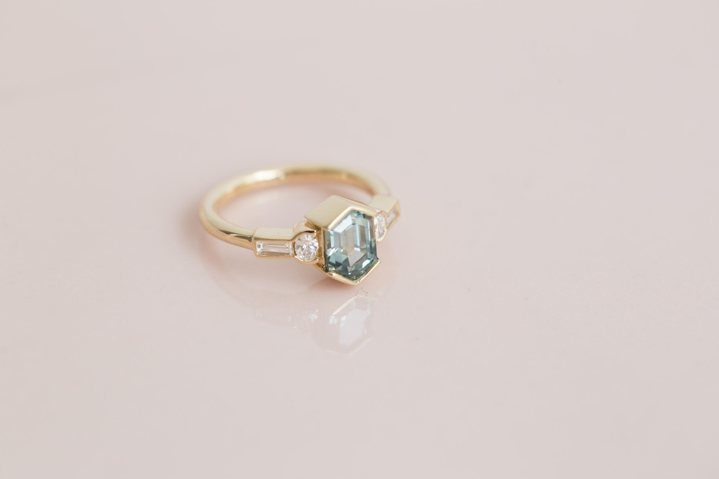 Kevin + Becky Montana Sapphire Hexagon Ring-3.jpg
