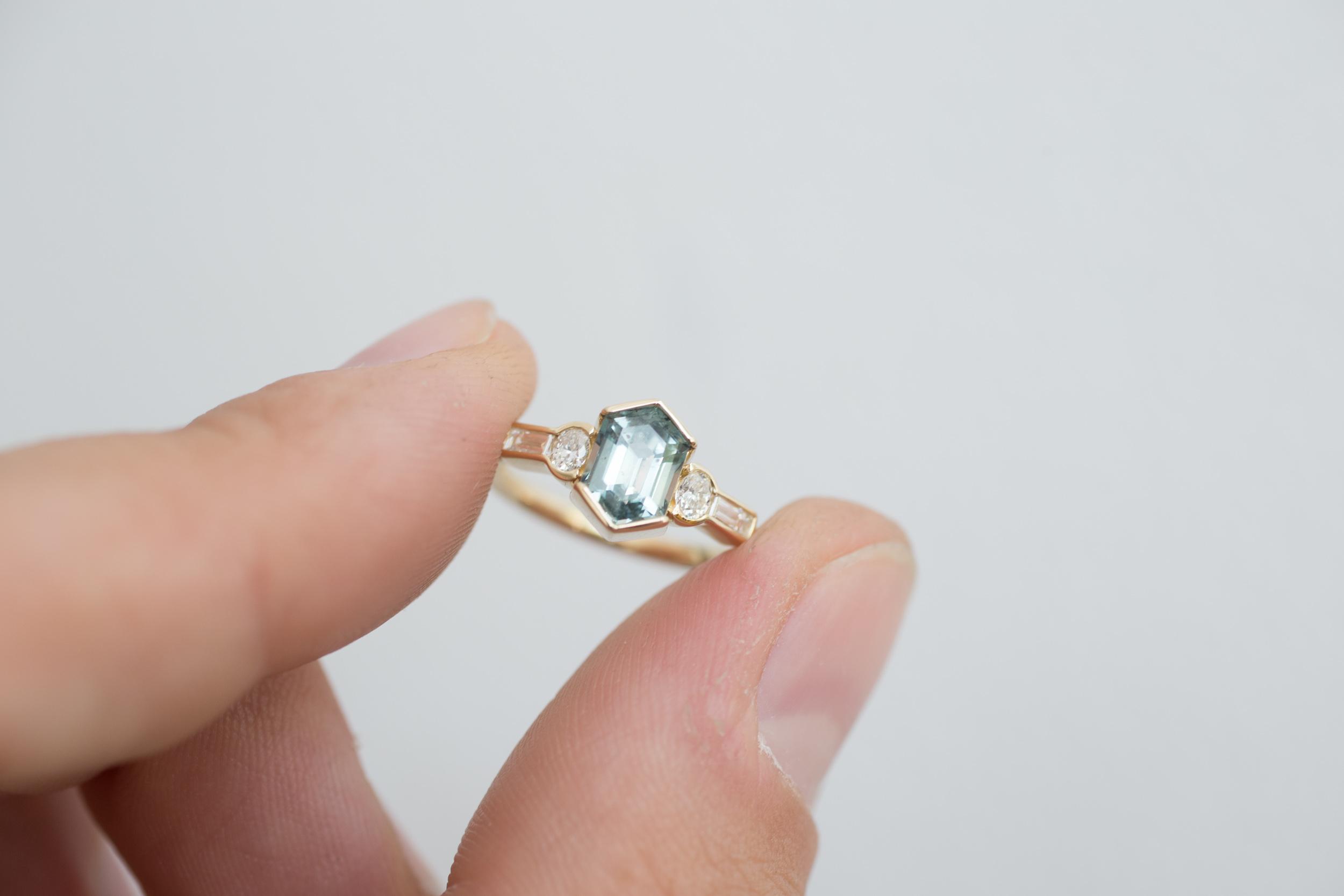 Kevin + Becky Montana Sapphire Hexagon Ring-15.jpg