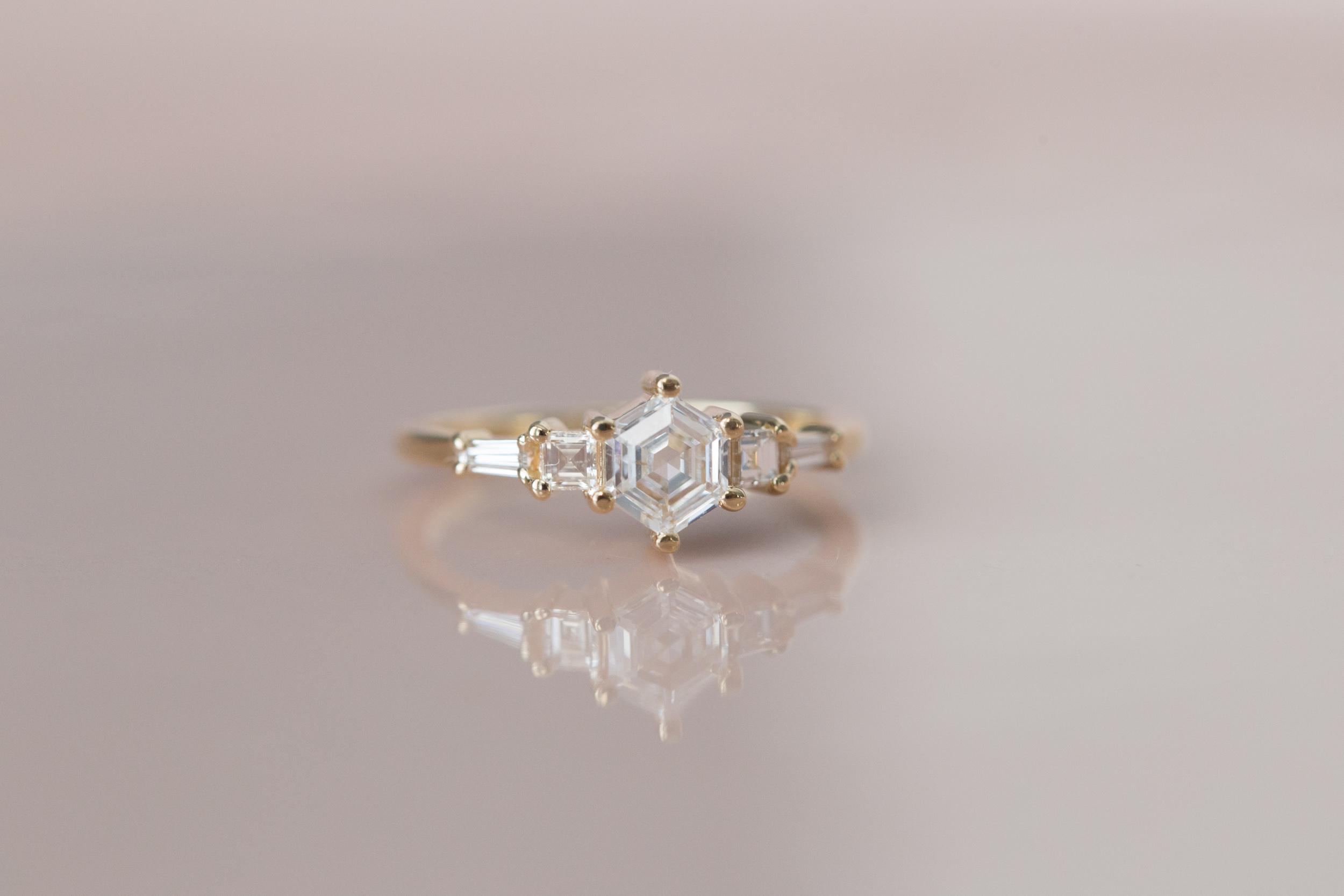 Mara + Dan Hexagon Diamond Step Cut Ring-3.jpg