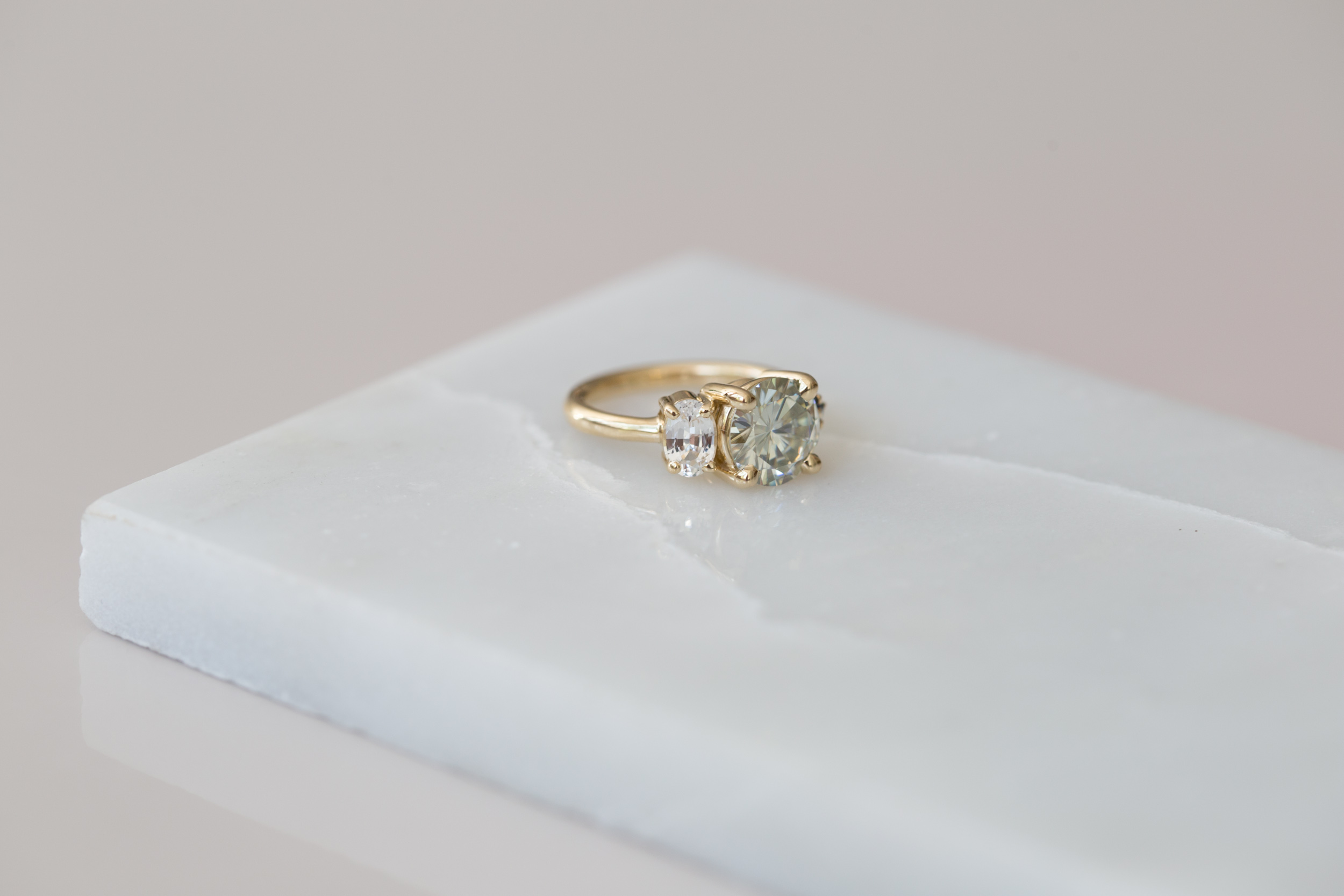 Claire Moissanite and Sapphire Cluster Ring-2.jpg