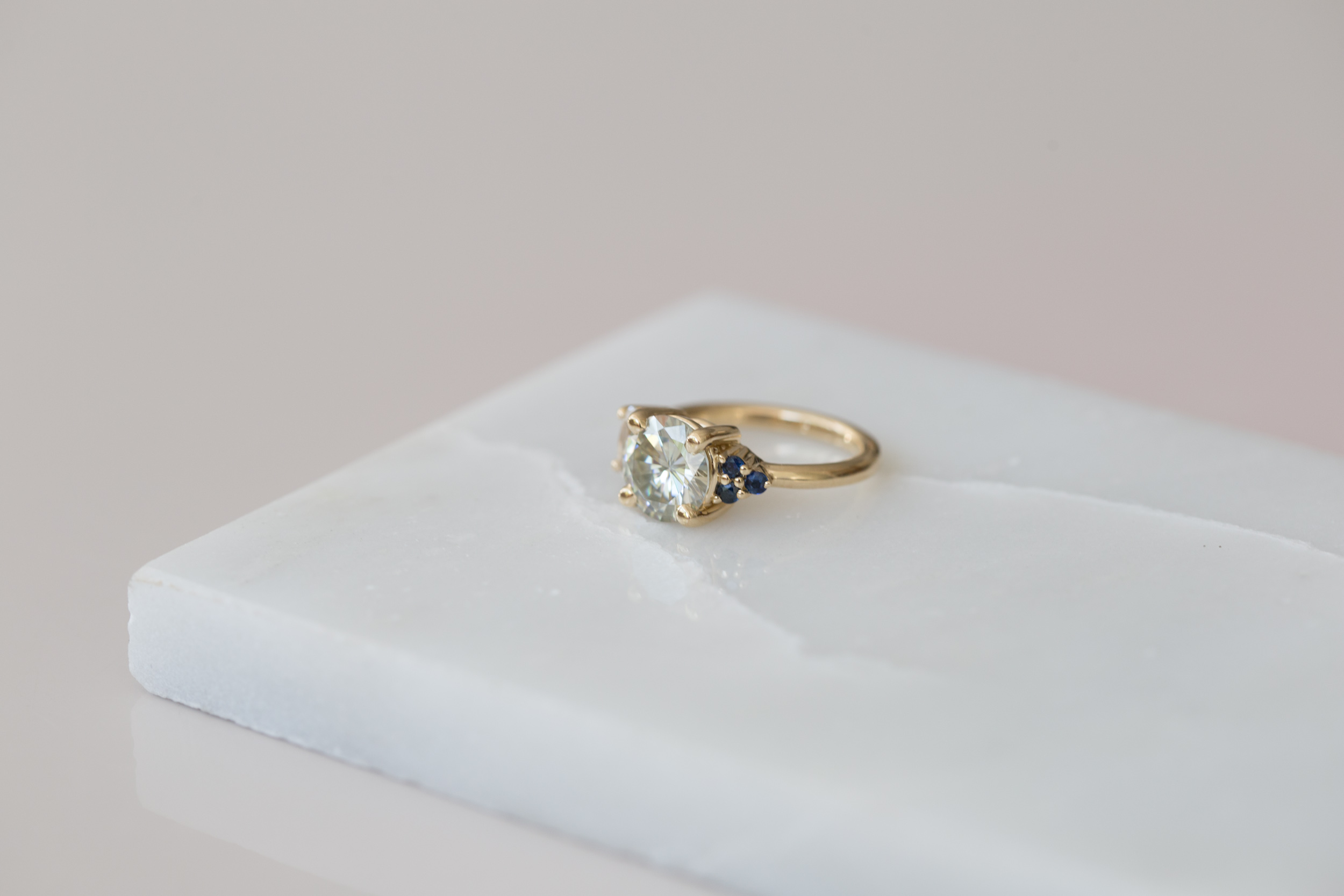 Claire Moissanite and Sapphire Cluster Ring-3.jpg