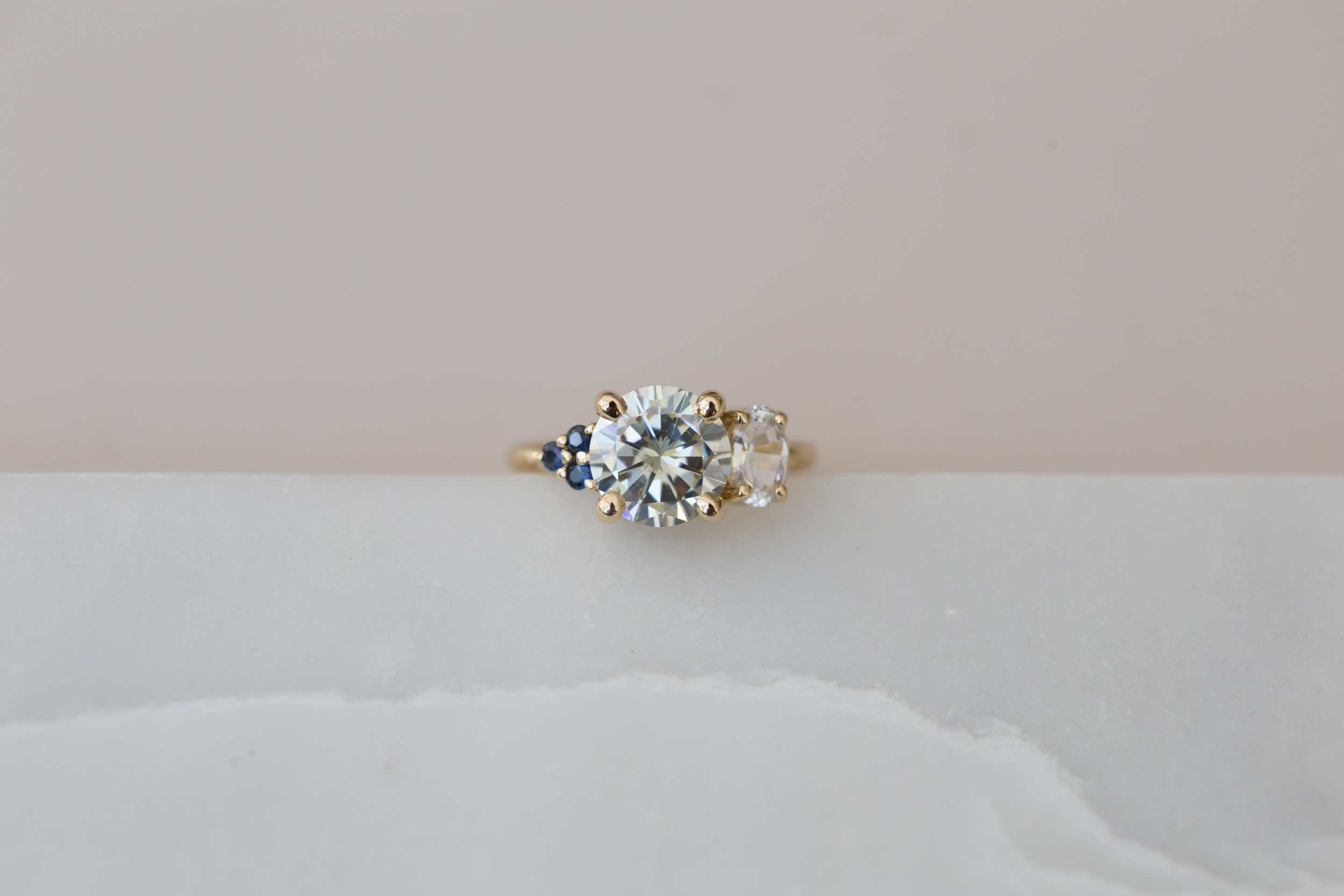 Claire Moissanite and Sapphire Cluster Ring-4.jpg