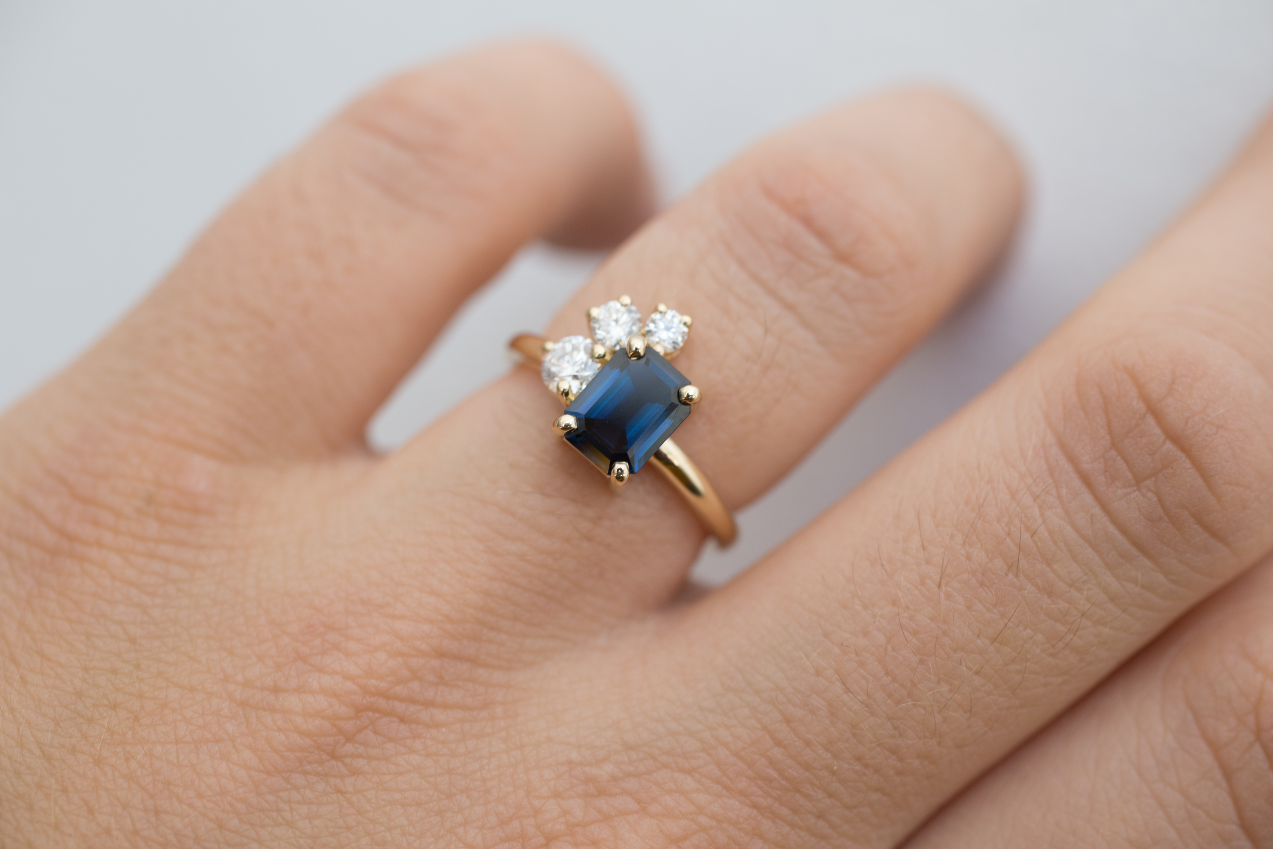 Miles + Catherine Emerald Cut Sapphire Diamond Cluster-8.jpg