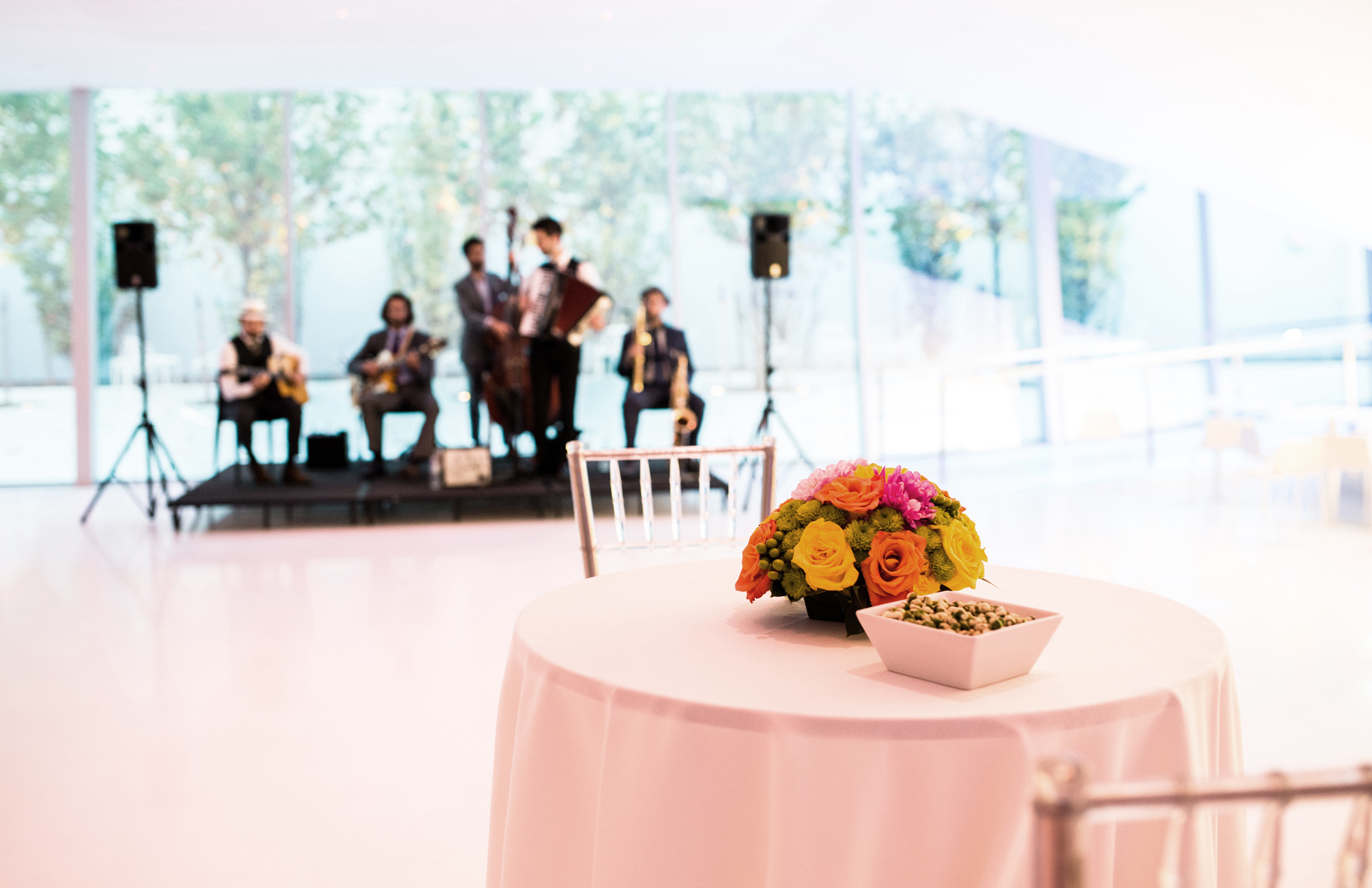 wedding jazz band flower