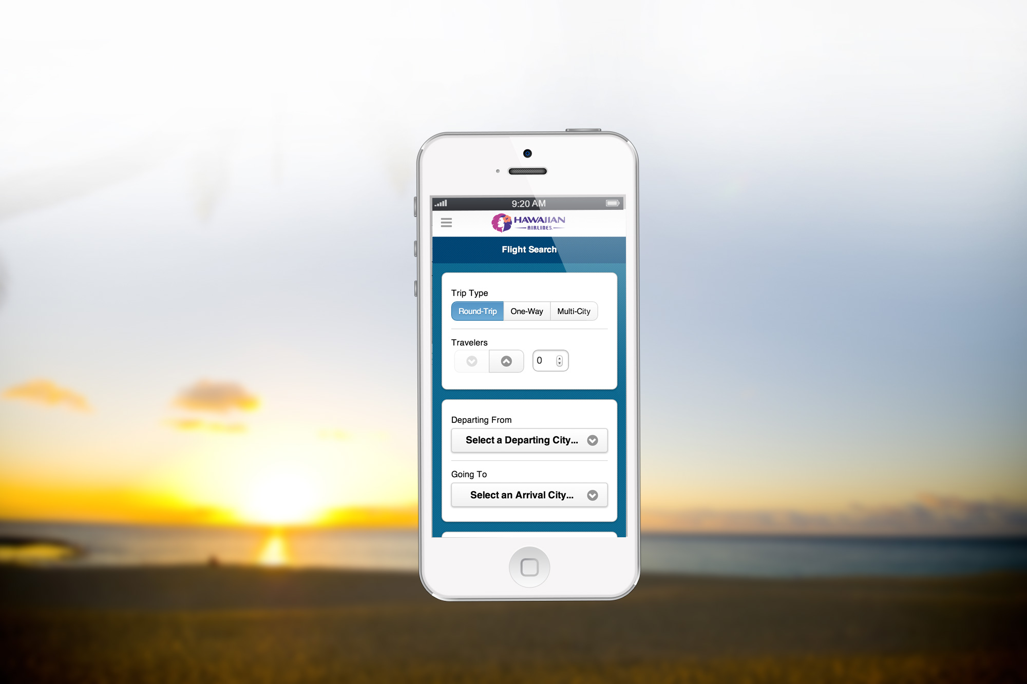 Hawaiian Airlines Mobile Website