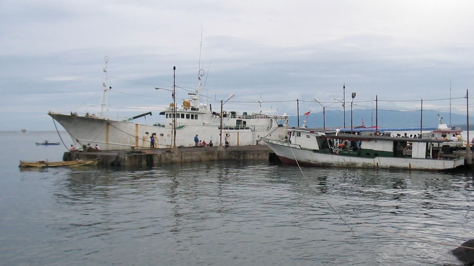 Fishing boat at pier