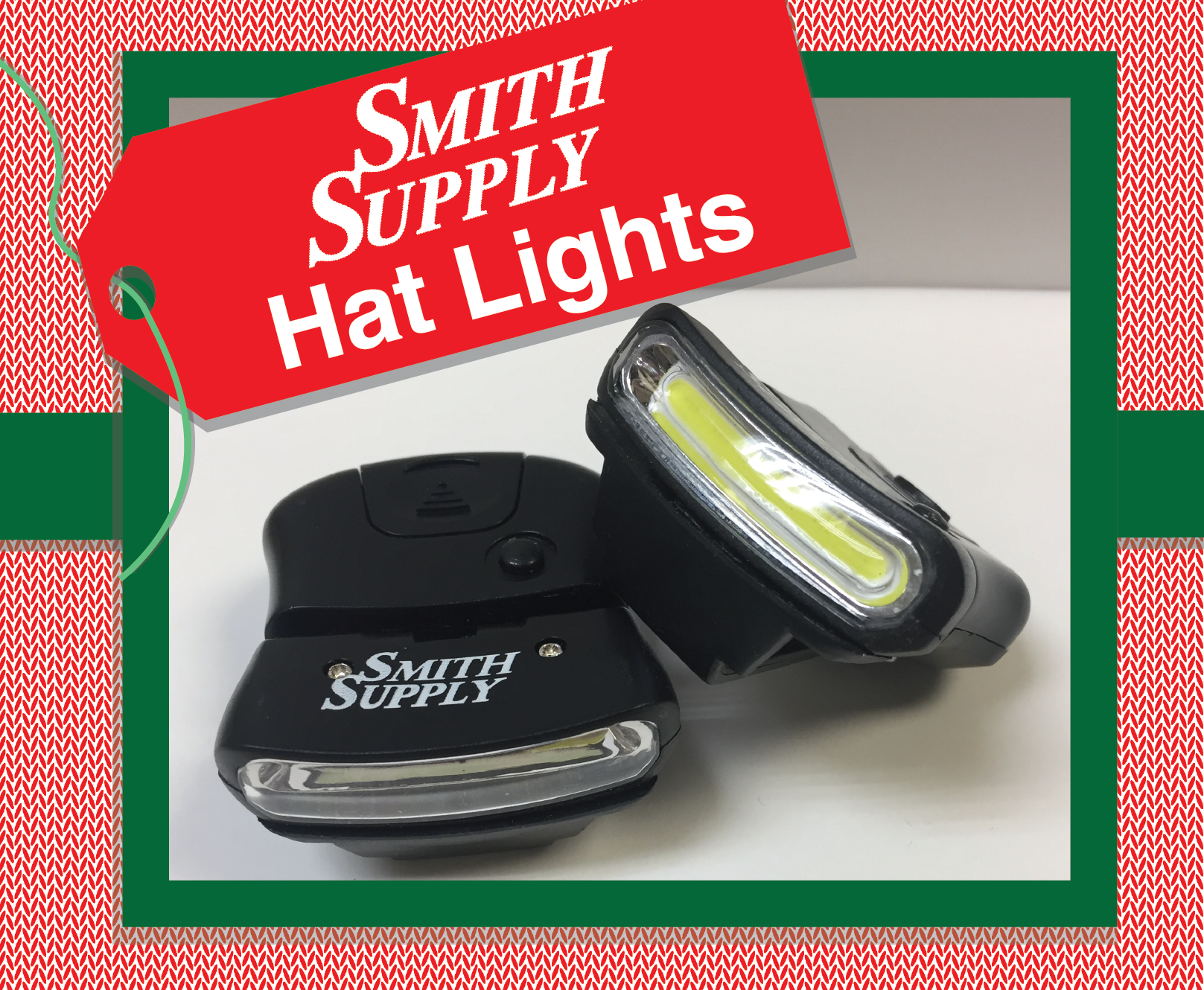 One of a kind Smith Supply lights that clip on your hat for a convenient way to see what you are doing.