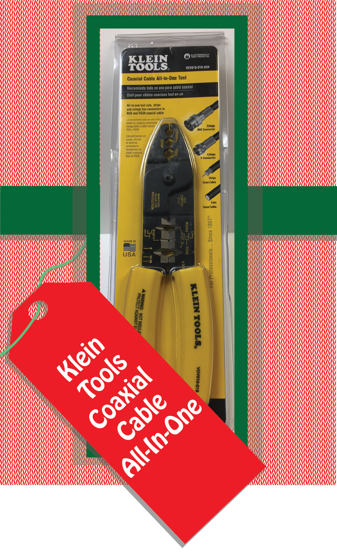 Klein Tools Coaxial Cable All-In-One Tool. Part Number:VDV010-019-SEN