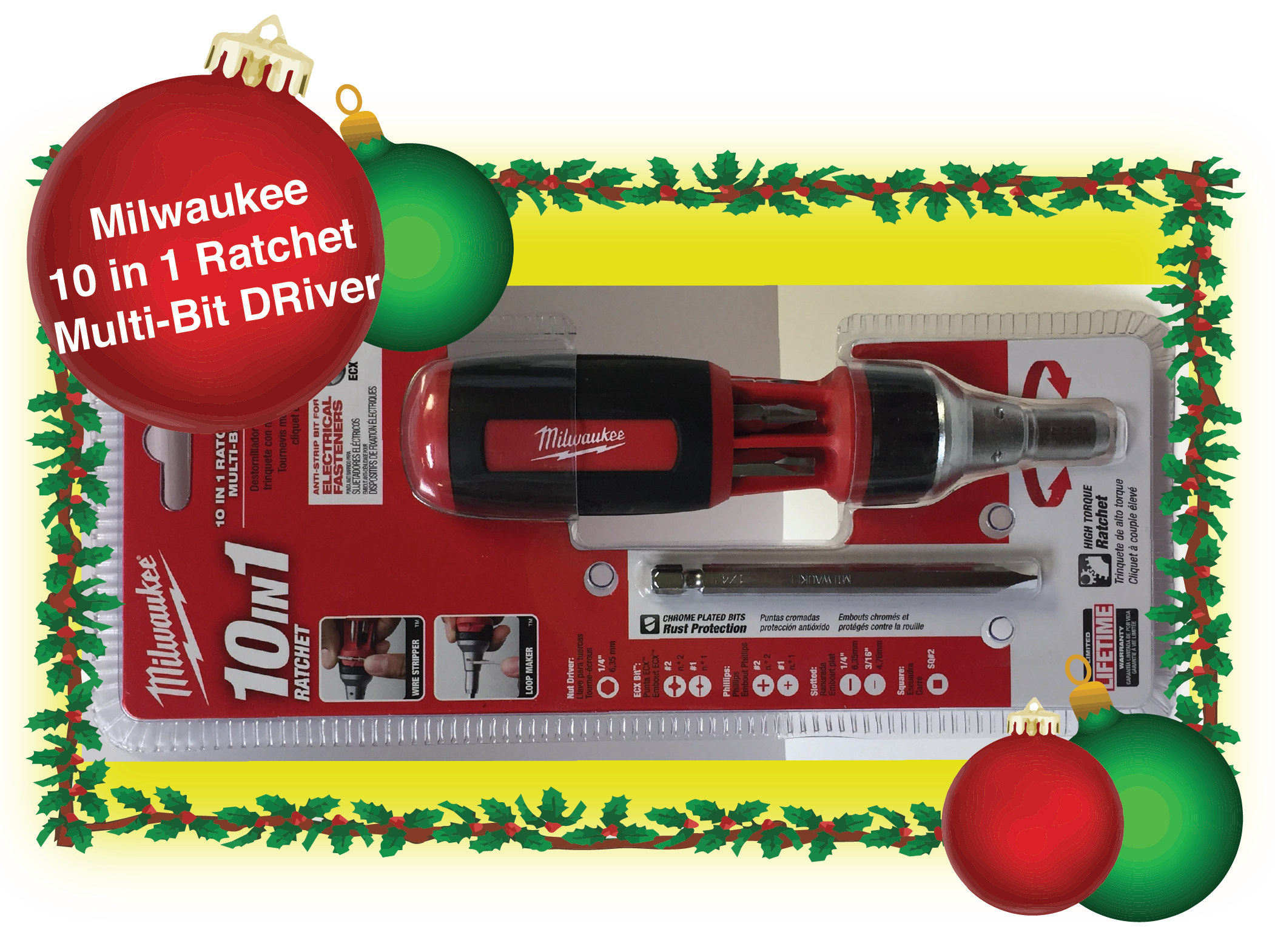 Milwaukee 10 in 1 Ratchet Multi-Bit Driver