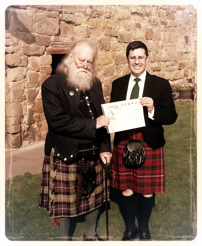 Balgonie and myself holding the appointment certificate