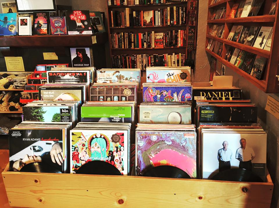 Records and reading from Sundance Books and Music