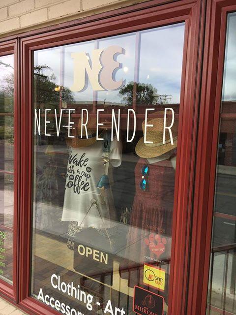 Never Ender store window