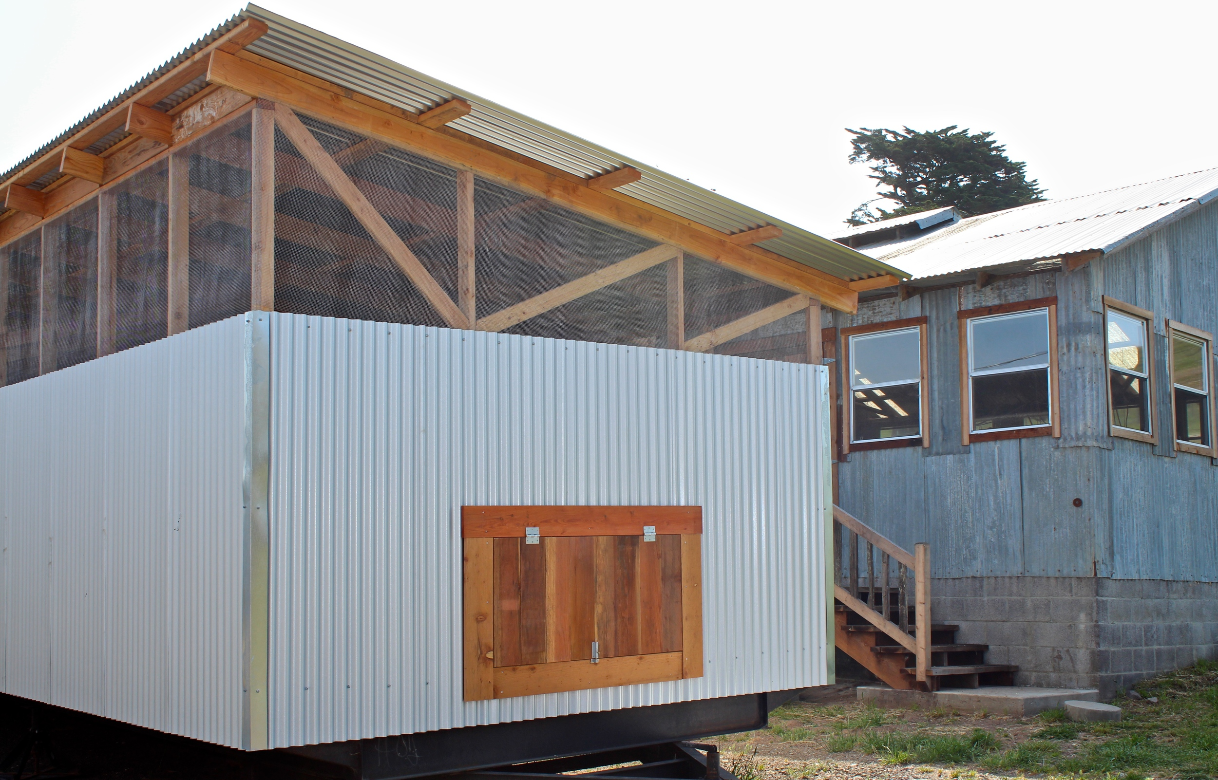 Two chicken houses