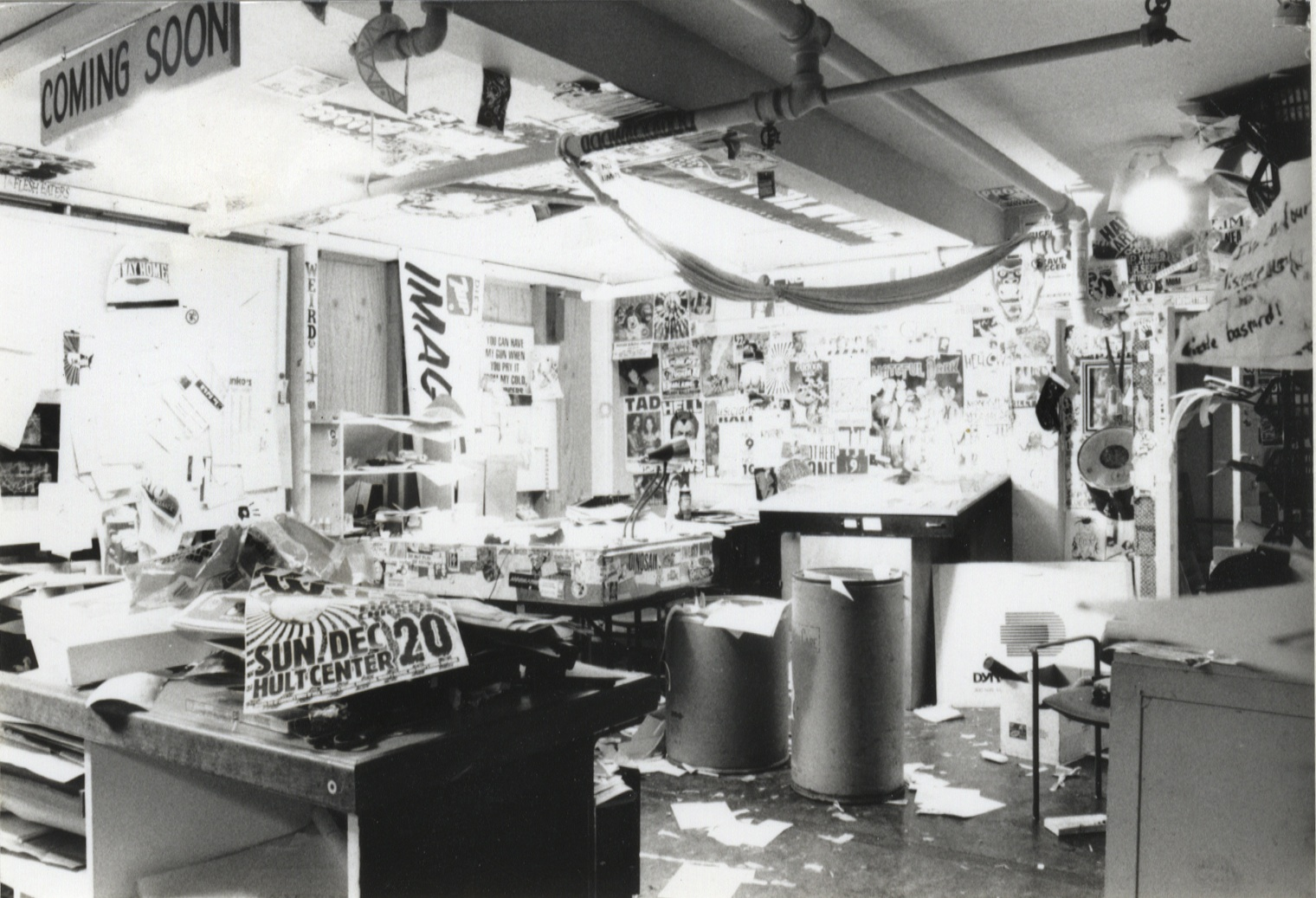 A picture is worth a thousand words:The original Crash Design studio.