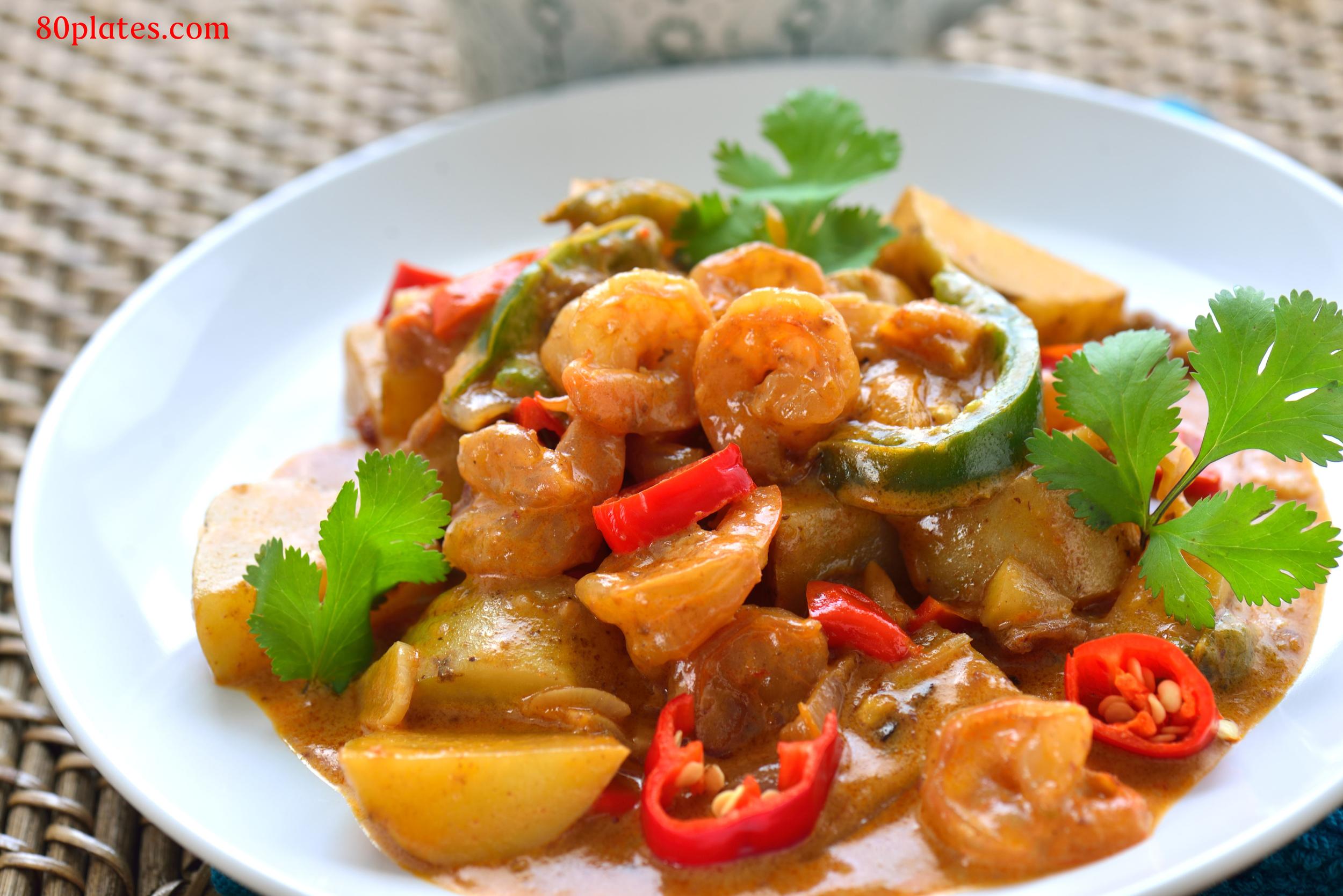 Indonesia - Sambal Goreng Udang (Spicy Stirfried Shrimp)