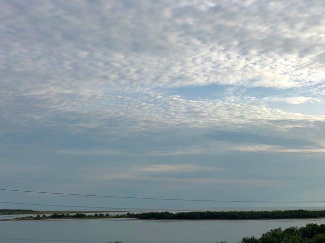 Calm seas and a slight overcast sky #seascape #dunedinflorida #florida #honeymoonisland #gulfofmexico