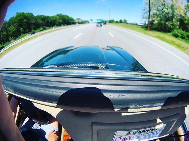 Road trip #roadtrip #convertible #jaguar #highway #summerday #summer