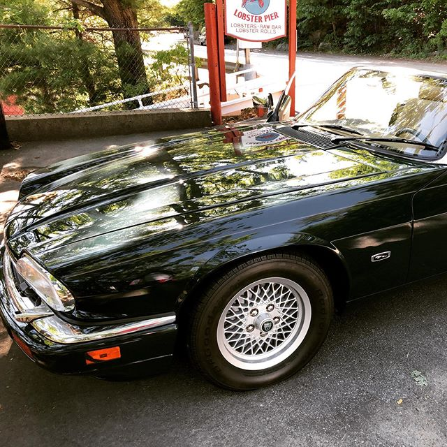 The ride home #jaguar #maine #roadtrip