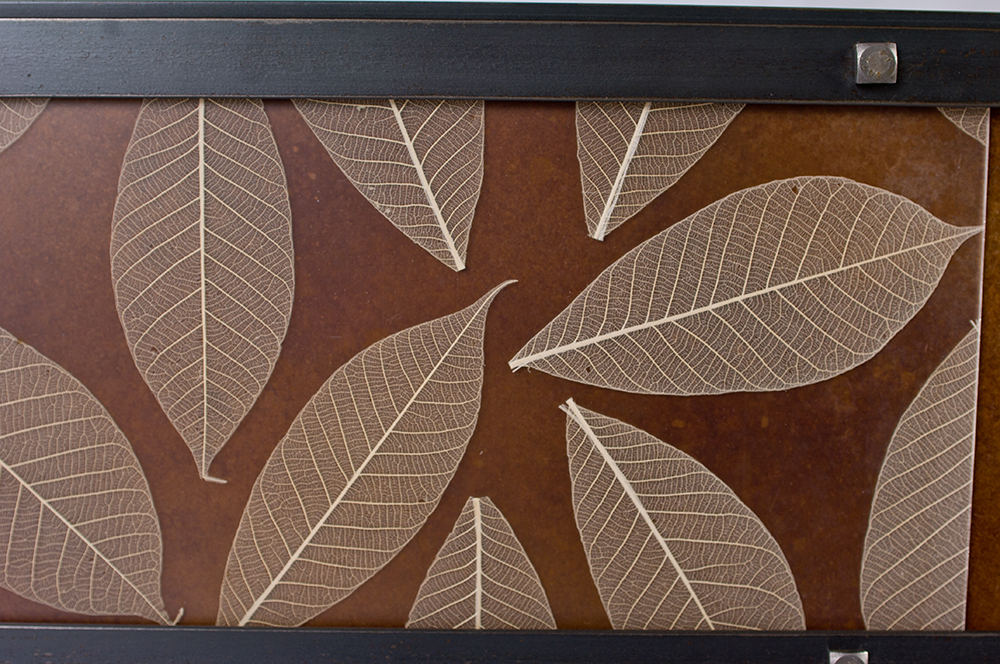 Leaf Inlay with copper backing