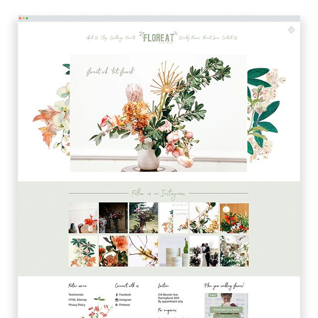We've created a new site for our friends @floreatfloral🙌 with beautiful illustrations by @amywrightstudio 