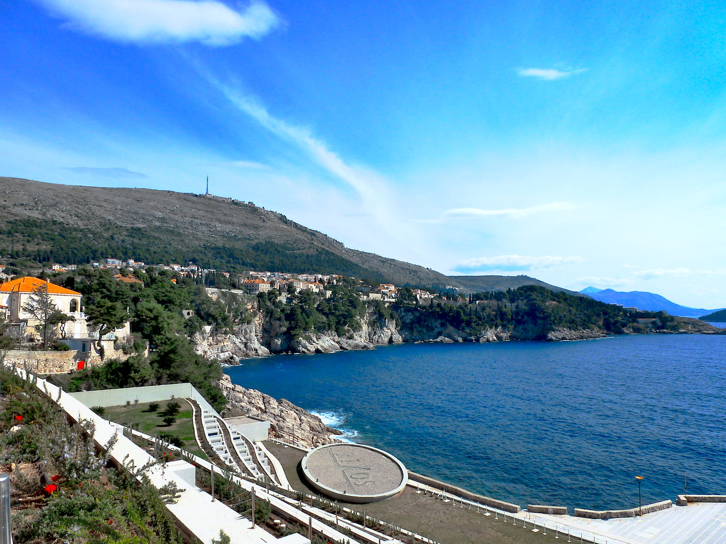 Our spectacular view from the balcony at the Rixos Libertas Hotel.