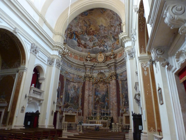 The main altar in St. Ignatius of Loyola.