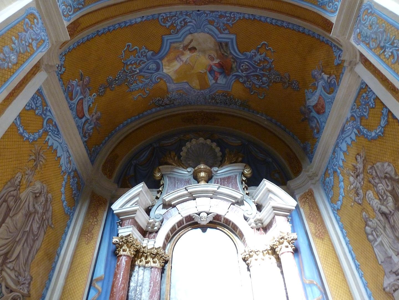 One of many cute archways inside of St. Ignatius of Loyola.