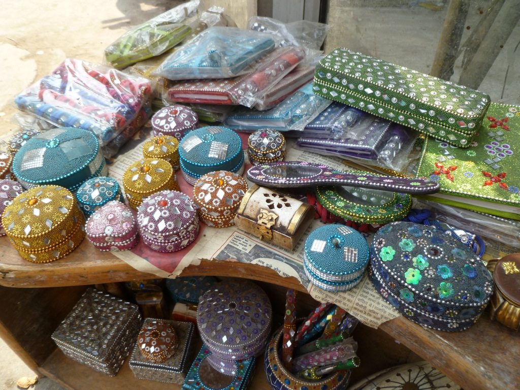 Trinket boxes galore. These are available in just about every store in all of New Delhi, as far as I could tell.