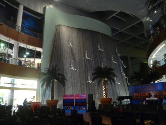 The elegant facade of the Dubai Mall.