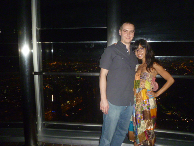 Friends since 1995-ish, on the 124th floor of the Burj Khalifa.