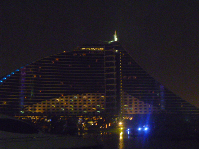 The Jumeirah Beach Hotel.