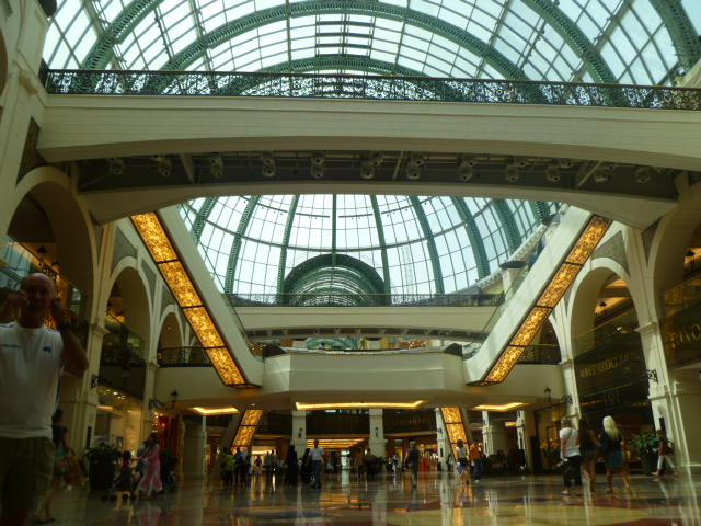 The grandiose skylight of the Mall of the Emirates.