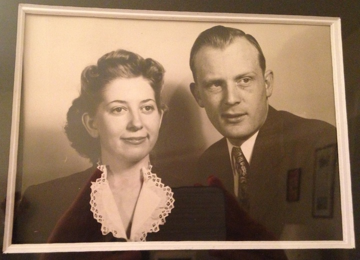 My husband's Mormor and Morfar (Evelyn and George)