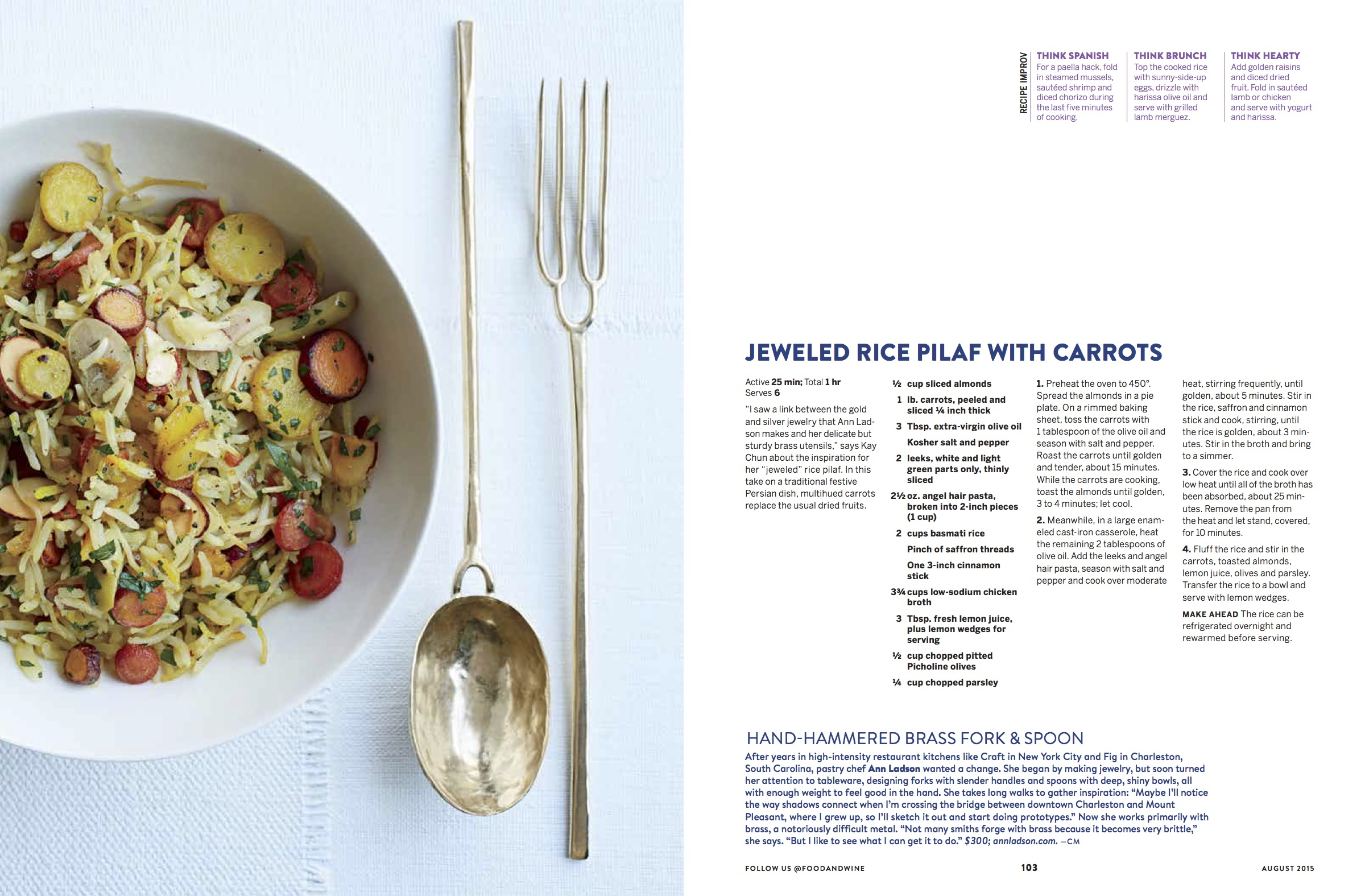 Food and Wine, August 2015