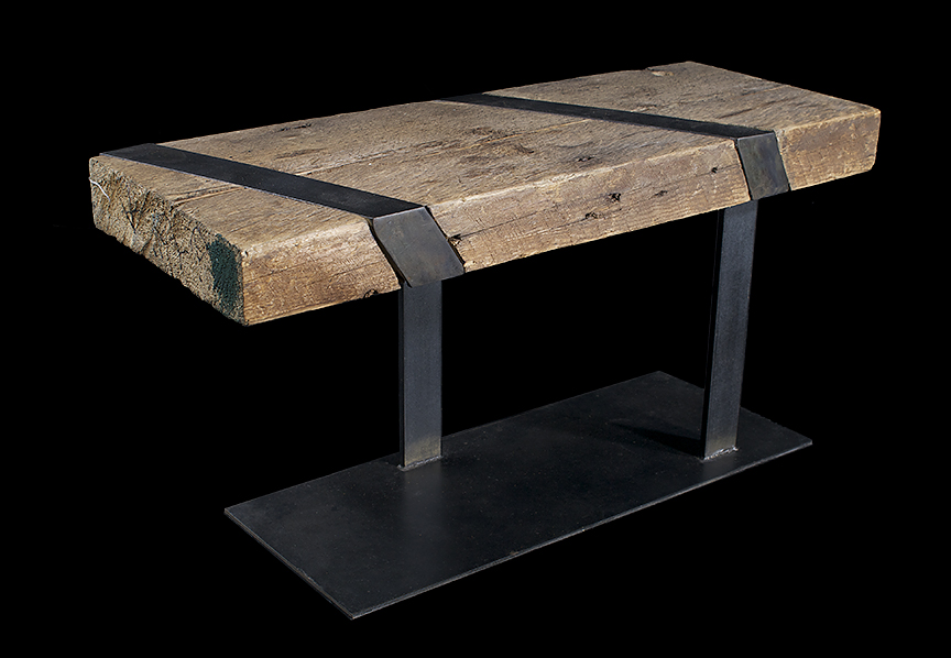 So once upon a time I use to make furniture...don't sure if it was a good thing or not but damn do i still love this sort of thing...wood and metal living together to make something useful ! Soooo Good!!!!