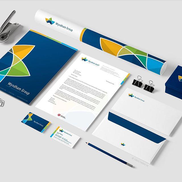 Wyndham Group Logo and Stationery Design work. @craigthornecreative