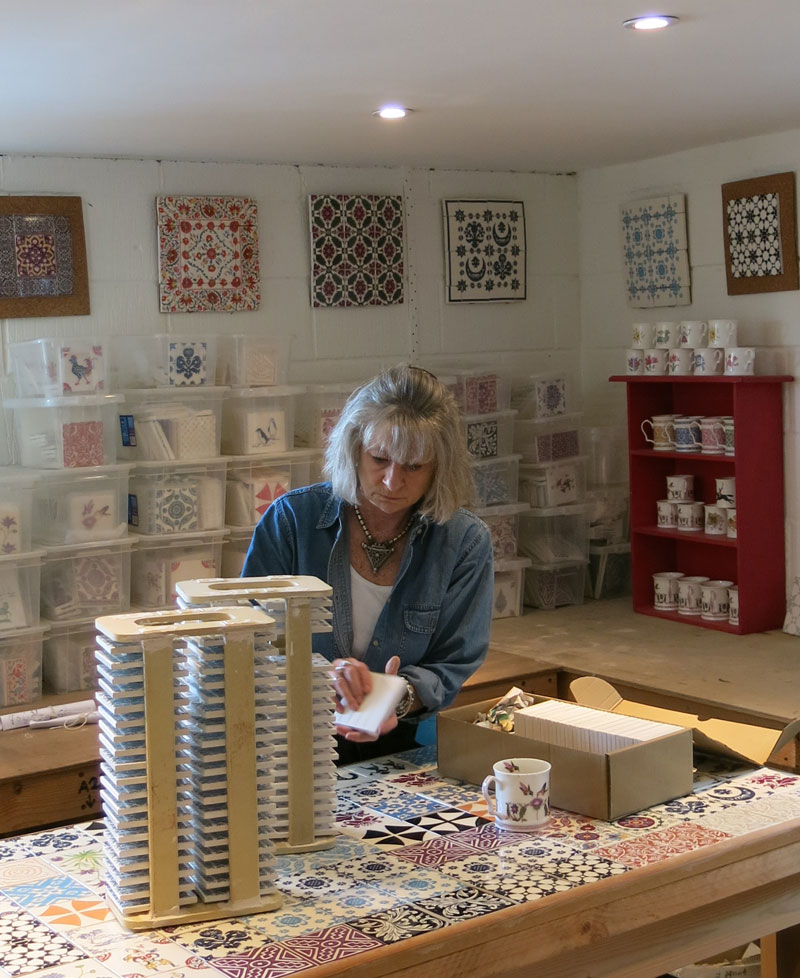 Julia in her studio
