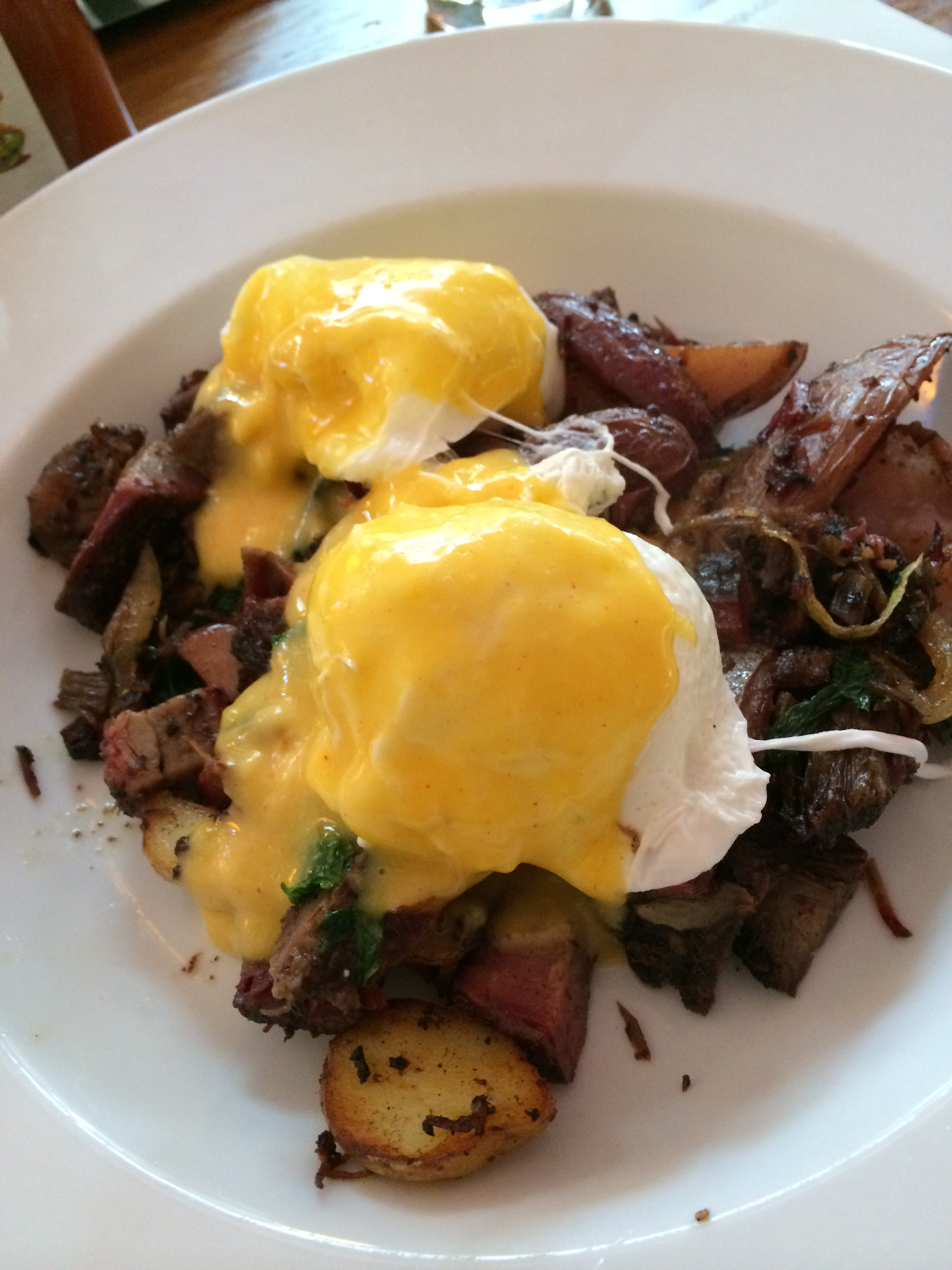 Short Rib Hash with poached eggs