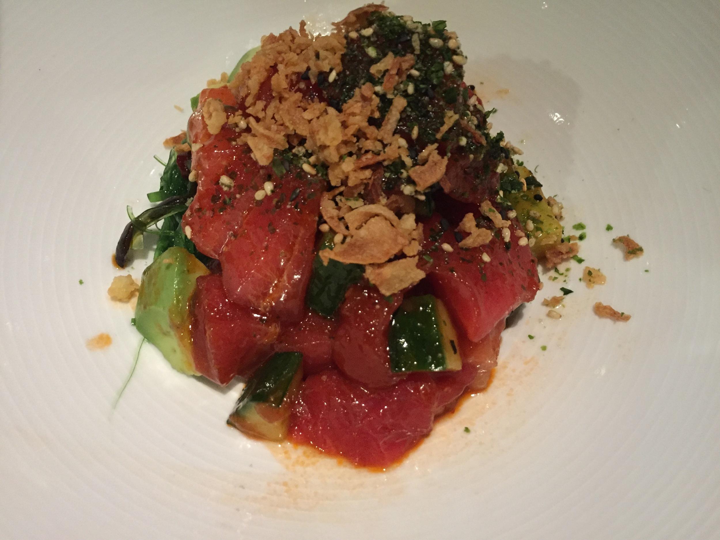 Bluefin tuna poke