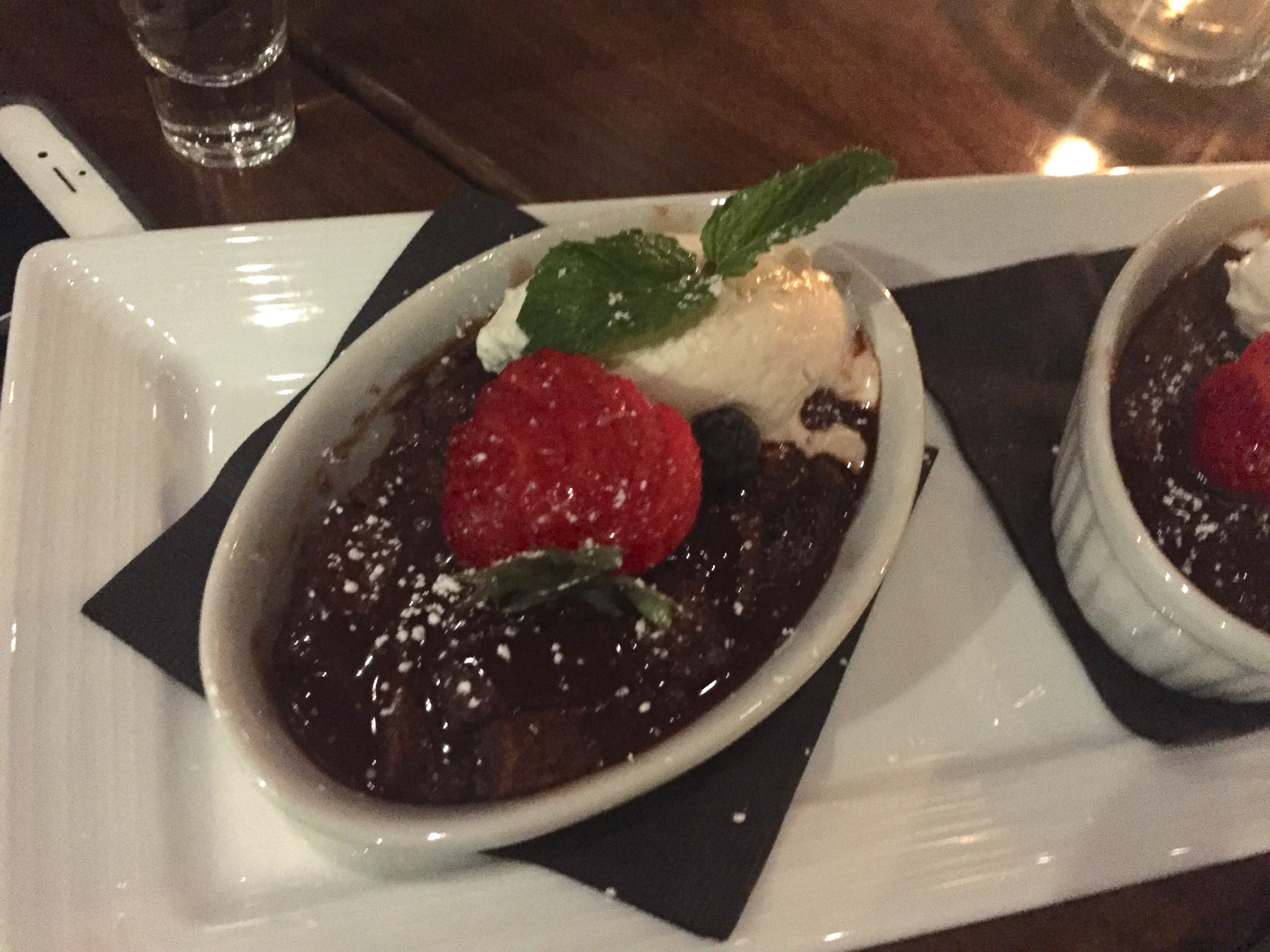 Put a fork in me, I'm done - chocolate bread pudding