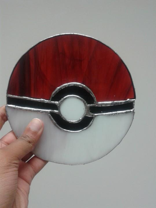 I made this stained glass pokeball