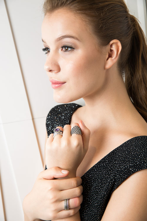 """Model-showcases-the-stack-of-rings-specially-created-for-""""Girl's-Night-Out""""-Look.jpg"""