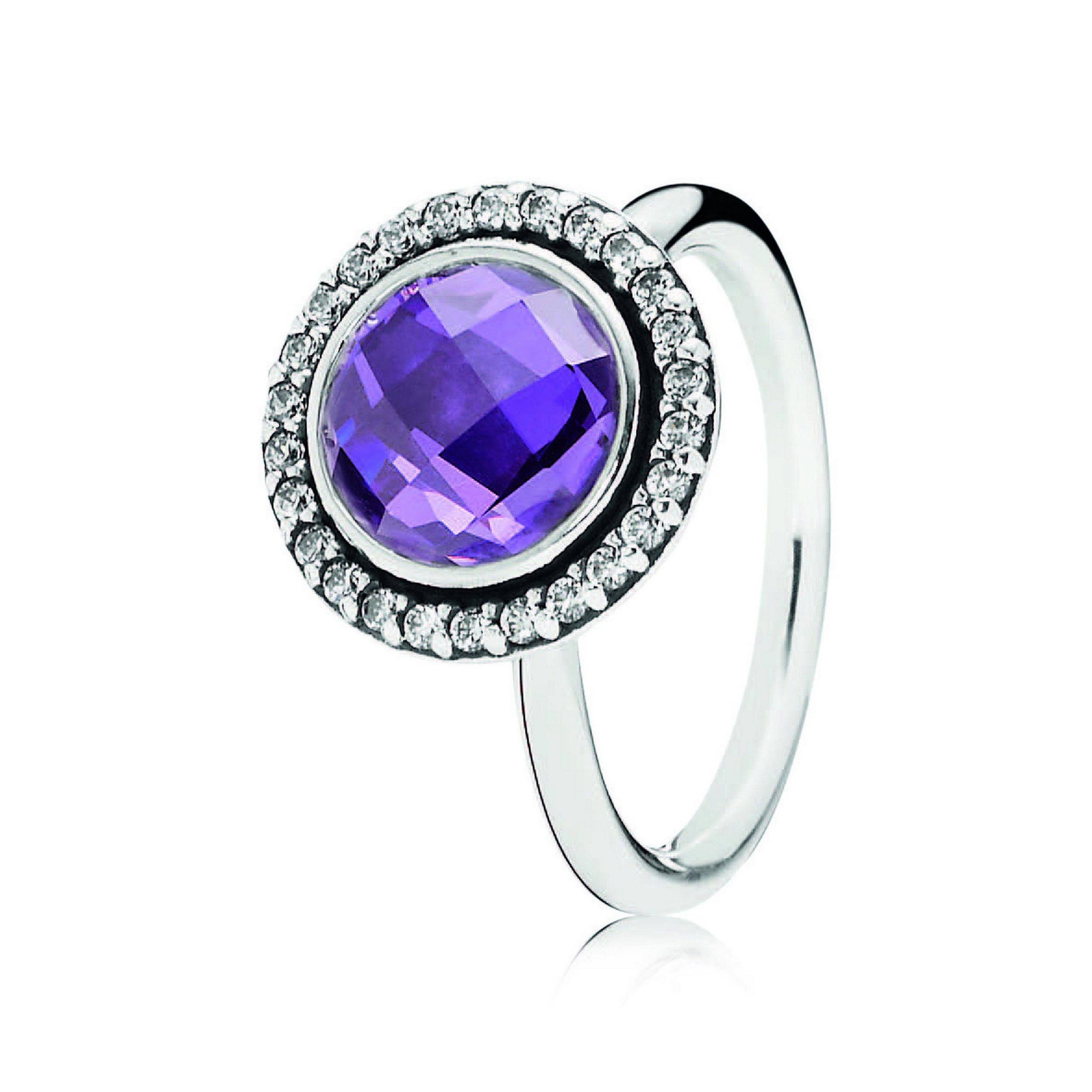 PANDORA_Spring 2014_Silver Cocktail Ring with Purple Cubic Zirconia_HK$999.jpg
