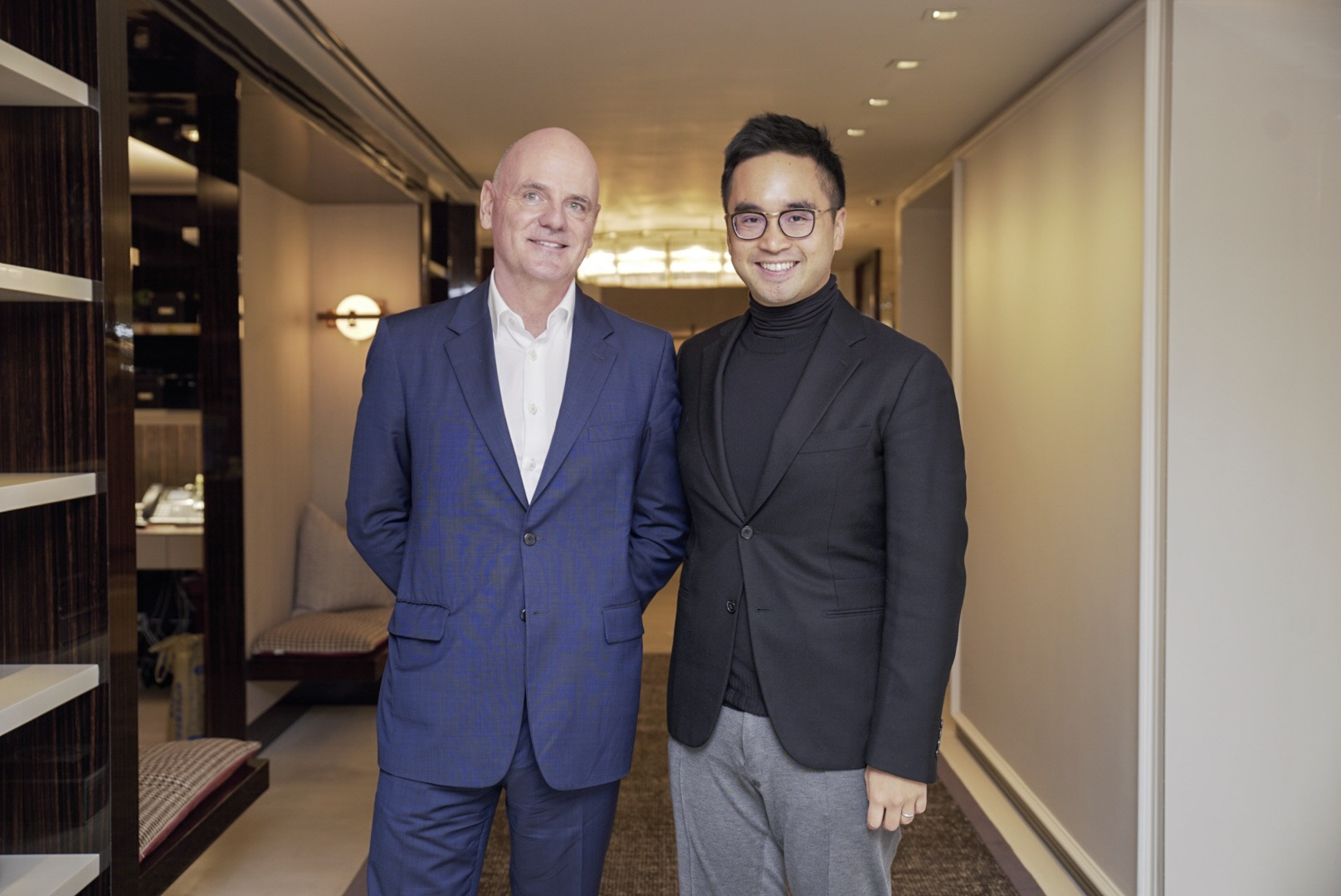 Adrian Cheng,  Executive Vice-chairman and General Manager of NWD, and  James Corner , Founding partner and CEO of JCFO