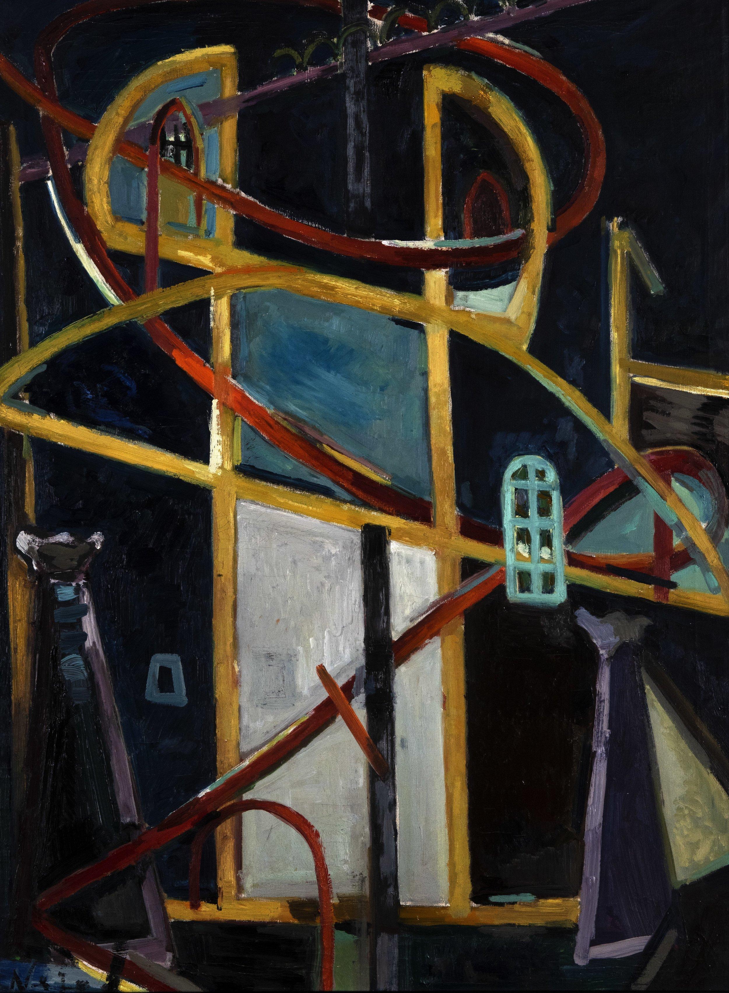 Nejad Melih Devrim, Ayasofya 1948, tuval üzeri yağlıboya 97x72cm.jpg