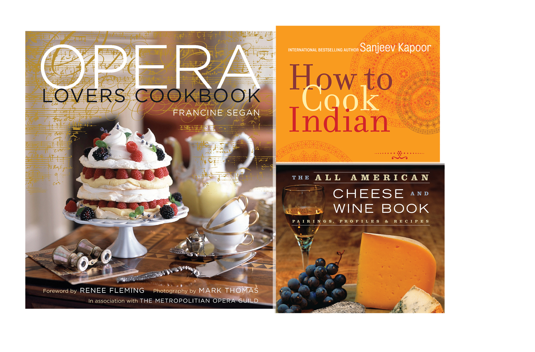 Cooking -   Opera Lovers Cookbook, How to Cook Indian, The All American Cheese and Wine Book