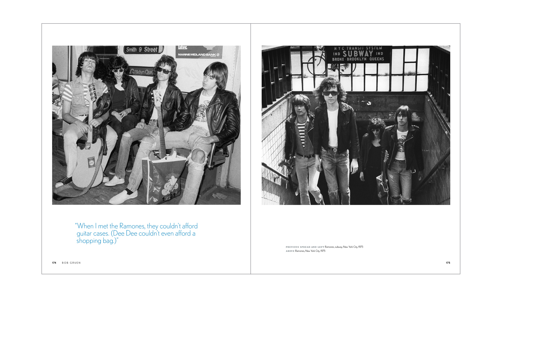 Typical spread -  The Ramones with author's comment