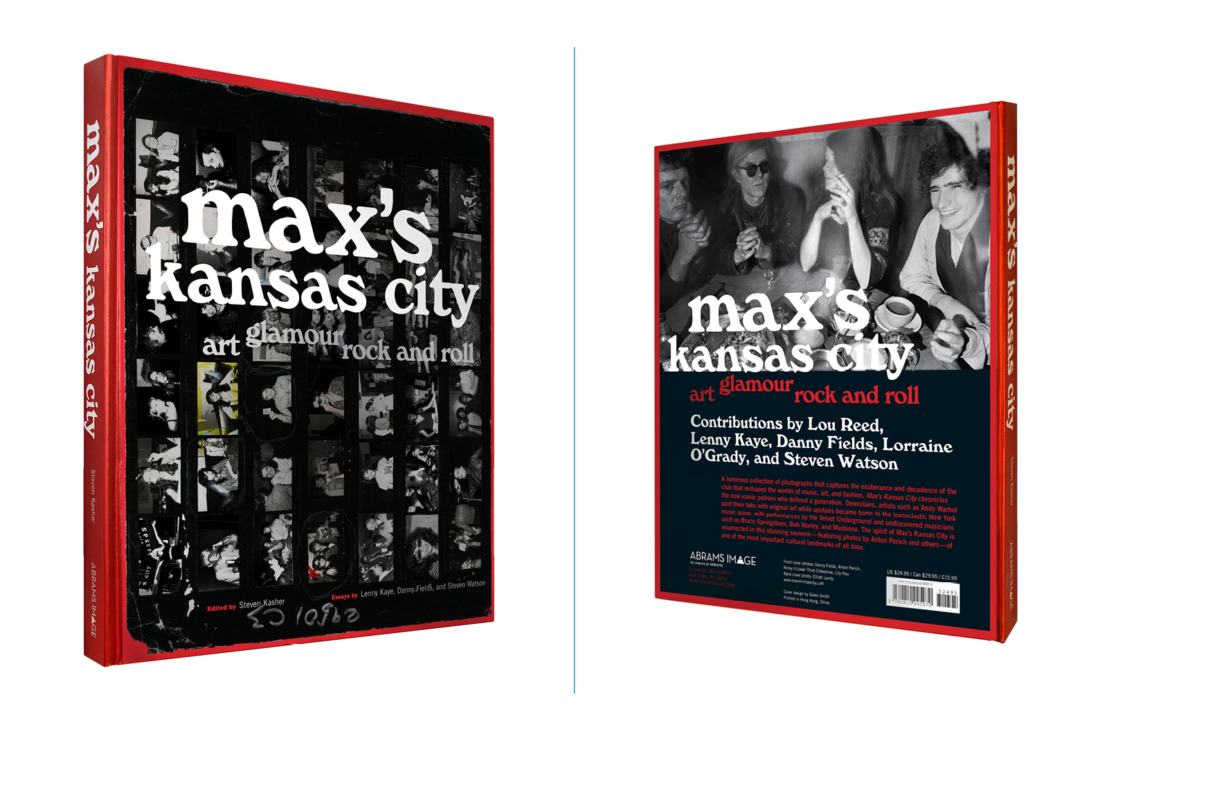 Max's Kansas City -  9 X 11 in., 160 pg., hardcover, 4-color and matte white on metallic case wrap. Design; Galen Smith // Publisher; Abrams Image